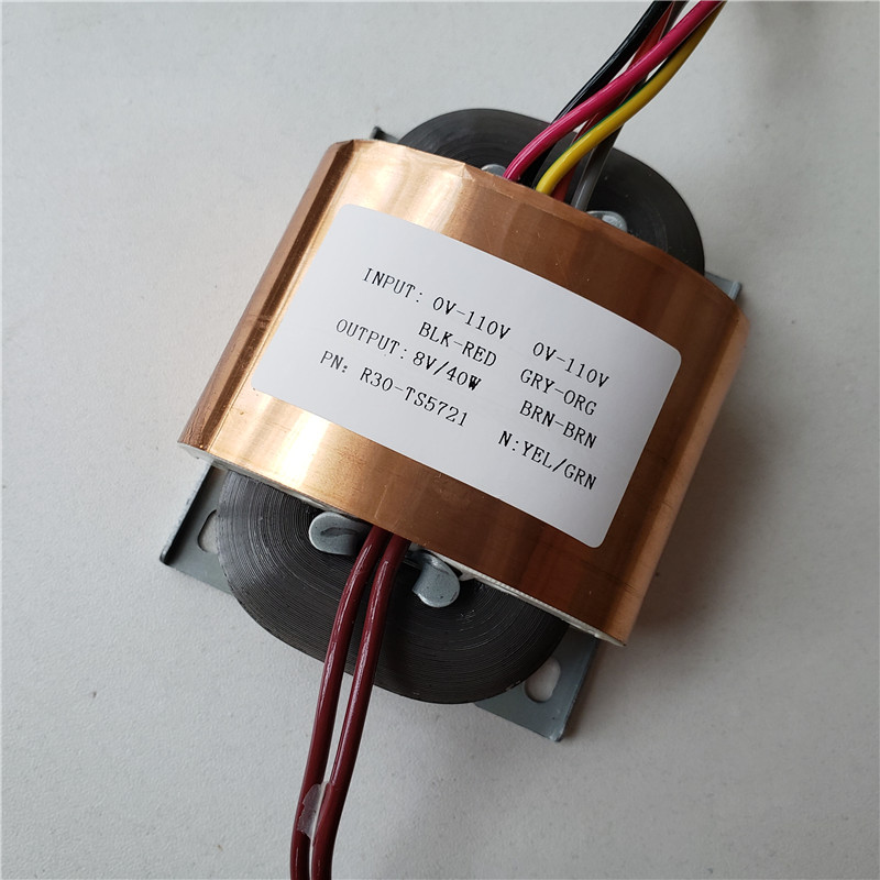 8V 5A R Core Transformer 40VA R30 custom transformer 110 110V copper shield for Pre decoder