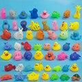 5 Unids Mezclado Encantador Animales Natación Juguetes de Agua de Colores de Goma Suave flotador Squeeze Squeaky Baño Juguetes Para El Baño Del Bebé de Juguete de Sonido CBT05