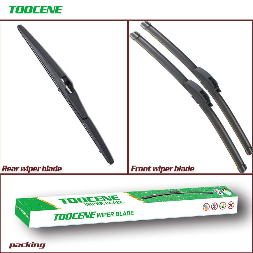 Front and Rear Wiper Blades for Mitsubishi Outlander 2003 2004 2005 2006 Windscreen Wipers Car Window