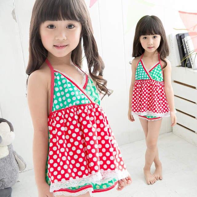 262fcf6fe40b3 2015 new children swimsuit little princess baby girls big virgin Korea  split skirt style swimming for
