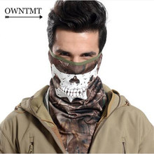 Fluorescence Snake Skull Tactical Mask Airsoft Paintball Balaclava Mask Motorcycle Cycling Hunting CS Quick-drying Mask Hood(China)
