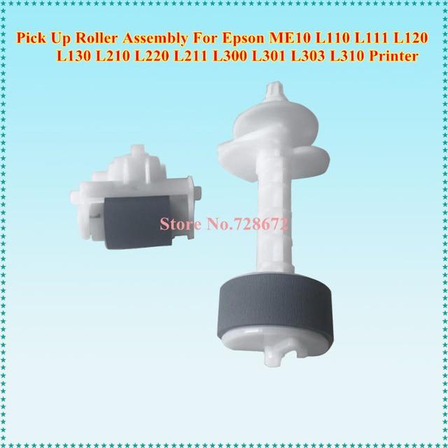 US $8 46 |Pickup Roller Kit Feed Roller for Epson ME10 L110 L111 L120 L130  L210 L220 L211 L300 L301 L303 L310 L350 L351 L353 L358 -in Printer Parts