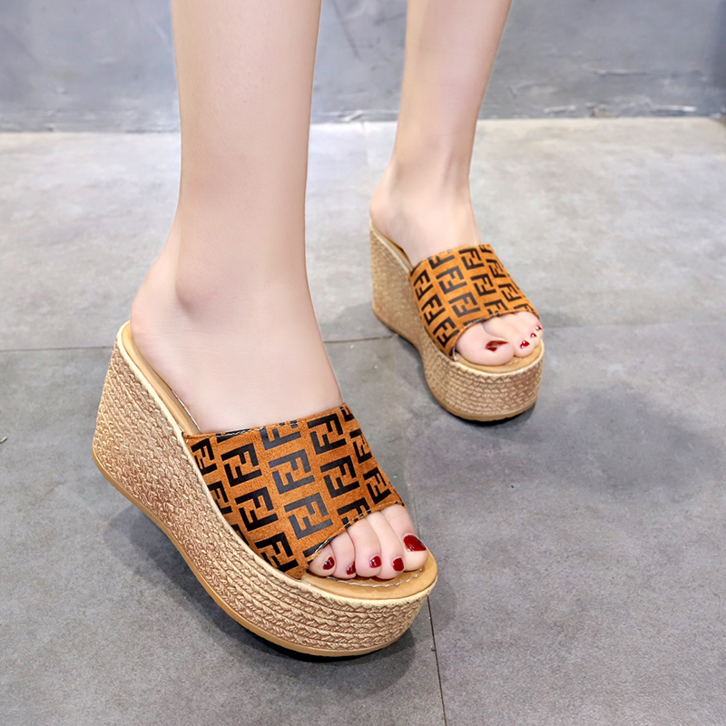 women slippers Fluffy Slippers Gladiator open toe increased wedges heels 9cm mixed colors outside comfortable shoeswomen slippers Fluffy Slippers Gladiator open toe increased wedges heels 9cm mixed colors outside comfortable shoes