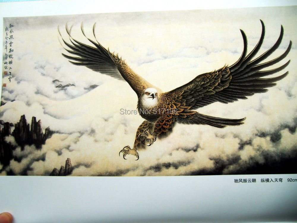 New Tattoo Book China Eagle HAWK Chinese Color Painting Sketch ...