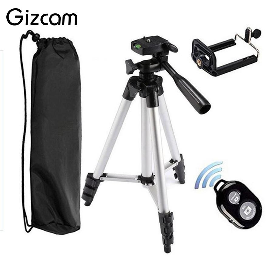Gizcam Smart Bluetooth Remote Control Self-Timer Camera Shutter Clip Holder Tripod Sets Kit Gift Universal For iPhone Cellphone