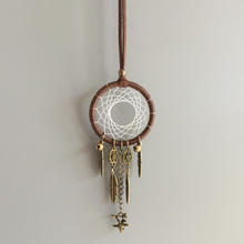 1.96Small Ring Car Pendant Hanging Ornament Dream Catcher Handmade With Bells and Small Elk