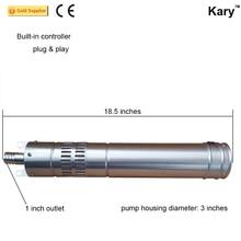 Kary 24 В dc солнечной водяной насос погружной, нержавеющая сталь солнечной цилиндра насоса глубокий колодец