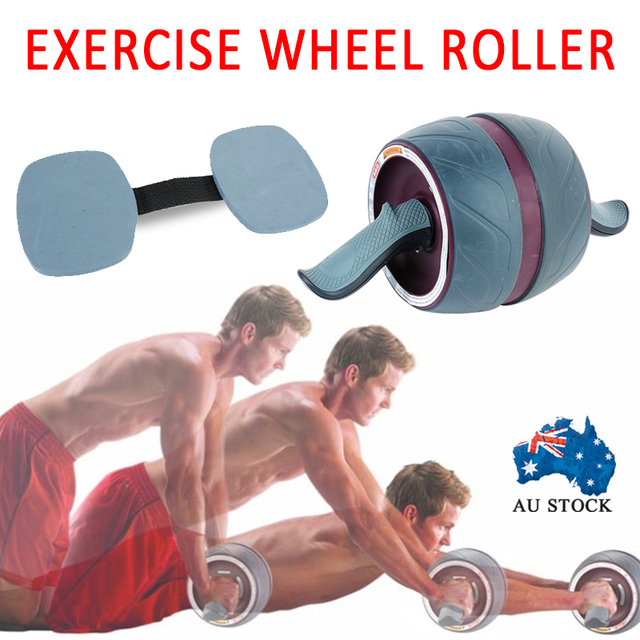 Keep Fit Exercise Wheel Roller Ab Six Pack Abs Workout Gym Fitness Strengthen Training For