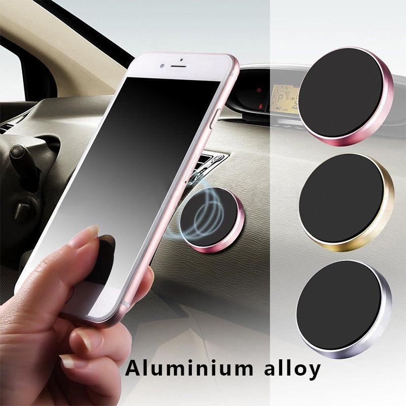 1pc Magnetic Car Phone Holder Universal Wall Desk Metal Magnet Sticker Mobile Stand Mount Support