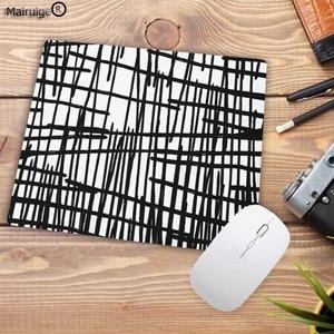 Image 3 - Mairuige preto listras de aquarela promoção jogos tamanho pequeno 22x18cm velocidade mouse pad computador mousepad melhores esteiras para gamer esteira