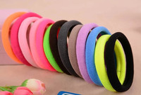 10pcs Lot Big Size Candy Colored Quality Elastic Ponytail Holders Accessories Girl Women Rubber Bands Tie