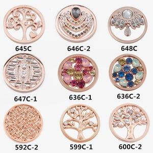 Image 4 - Biżuteria vinnie design 33mm Rose złota moneta tarcza fit 35mm rama wisiorek mieszane style hurtownie