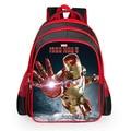 2016 Hot sale new iron man backpack cartoon bags Avengers children boys school bag kids girls grade book bag pupil