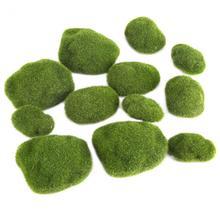 12 шт./упак. Зеленые искусственные камни покрытые мхом искусственный газон завод Poted Bryophyte бонсай DIY Декор для дома и сада пейзаж