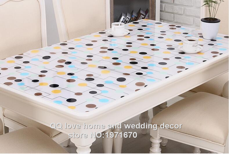 1 0mm Thick Soft Glass Plastic Table Cloth Print