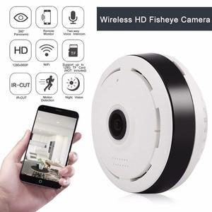 Image 2 - Cámara Wifi IP 360 grados VR casa panorámica inalámbrica Fisheye cámara de vídeo seguridad cámara de vigilancia IP tarjeta cámara interior