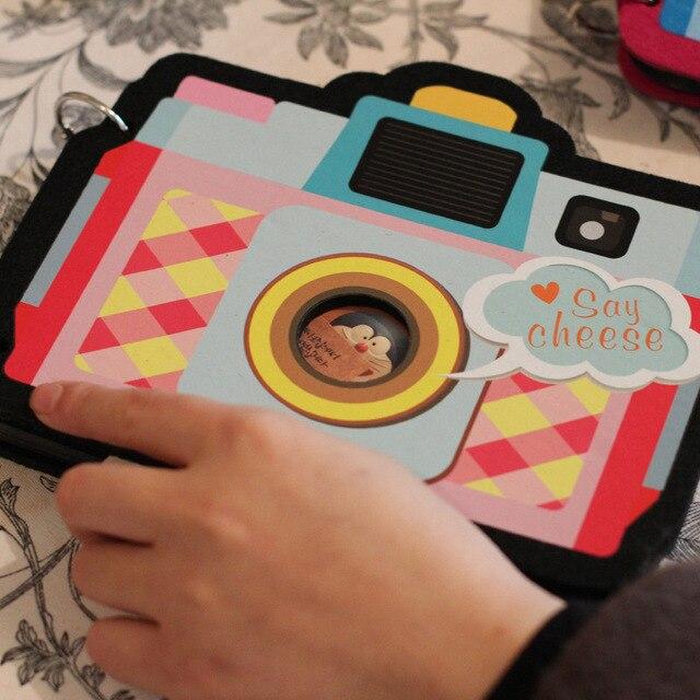 Kawaii álbum diseño de la cámara regalos de DIY álbum de fotos 6 ...