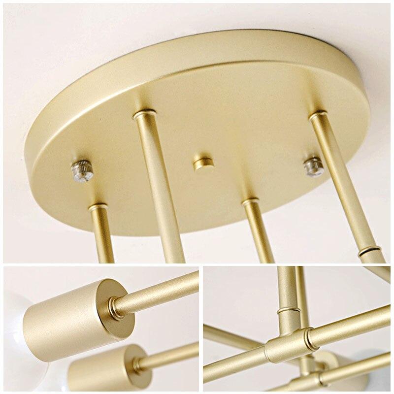cheapest 8 Types Metal Ceiling Lights E27 LED Recessed Creative Chandelier Restaurant Aisle Lamp 20CM Fixture Pendant Retro Iron Ceiling