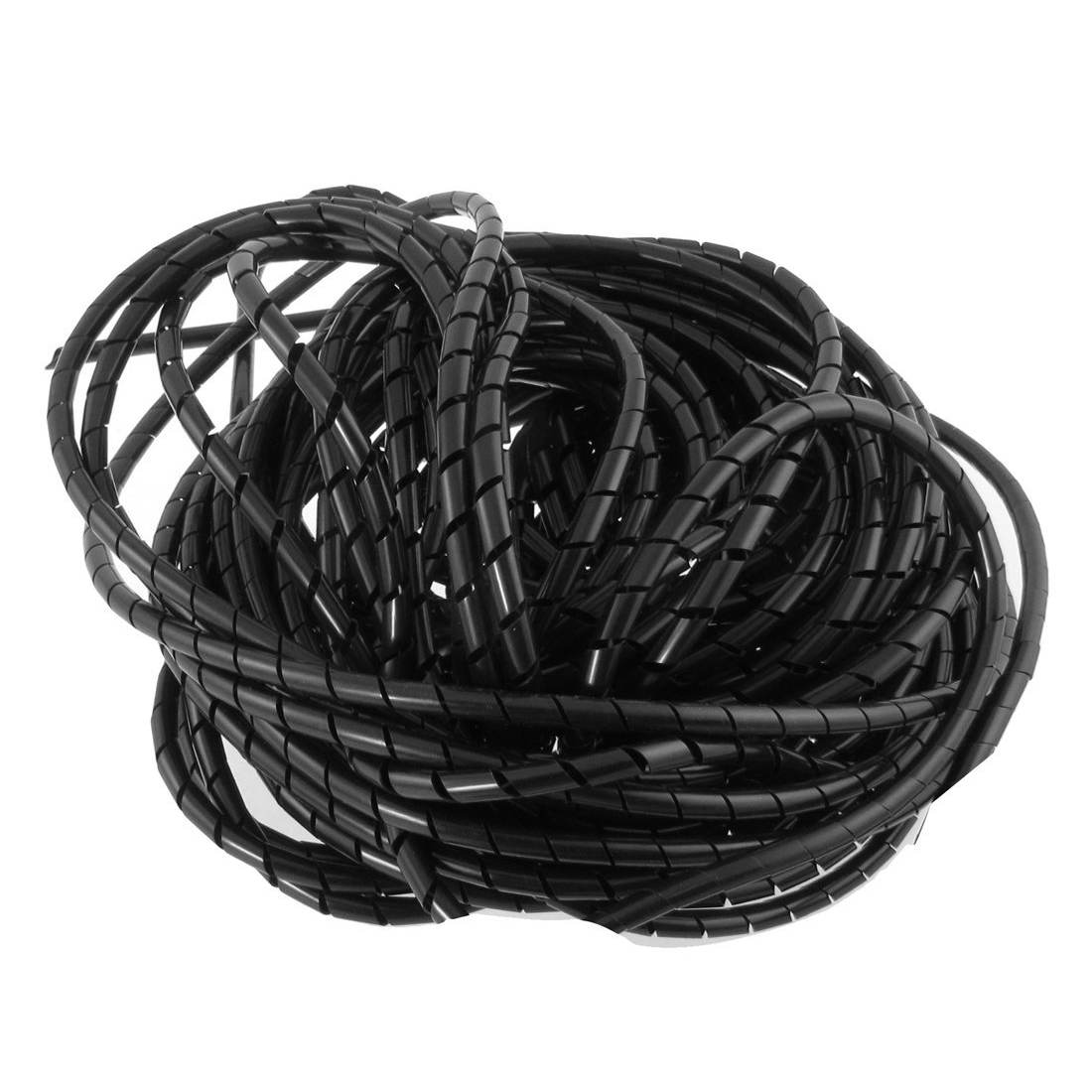 JFBL Hot 21M 68 Ft PE Polyethylene Spiral Wire Wrap Tube PC Manage Cable 6mm 1m 50mm black white flexible pe polyethylene desktop pc cord cable wire manage protective sleeve spiral wrapping band tube