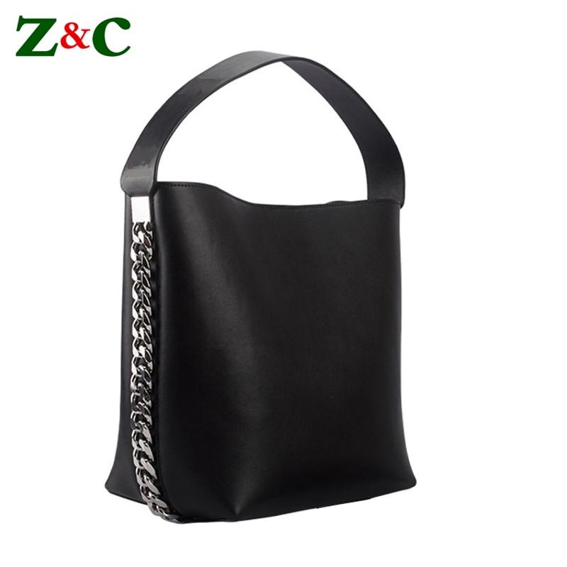 Marque de luxe femmes grande chaîne seau sacs femme en cuir sacs à bandoulière célèbre Designer solide fourre-tout Sac dame Shopper Sac à Main