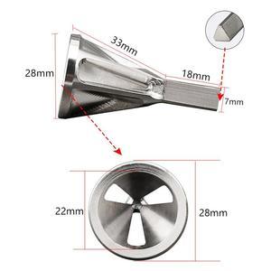 Image 5 - 스테인레스 스틸 디버링 외부 모따기 도구 드릴 비트 홈 DIY 워크샵 삼각형 육각 섕크 볼트 철근 버 제거 도구