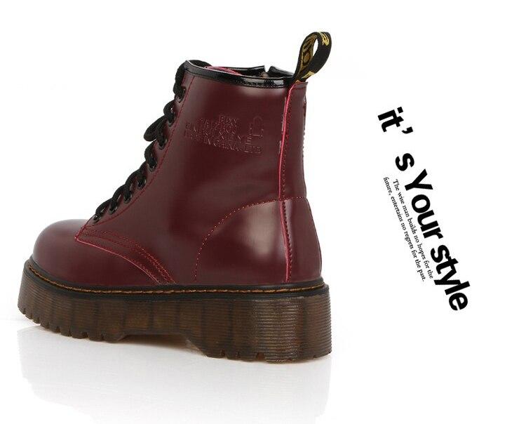 Compre LAKESHI Zapatos De Mujer Botines Punk Botas De Moto De Cuero De PU Botas De Invierno Otoño Plataforma Femenina Botines De Felpa A $35.14 Del