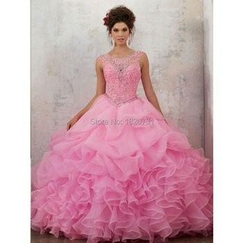 863662c62 Joky Quaon nuevo espumosos Venta caliente Provence chica sabor de cristal  brillante de Quinceanera vestido de alta calidad 2019 debutantes vestido