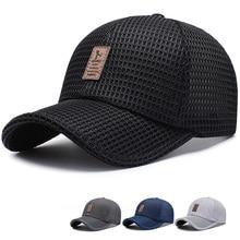 Summer Adult Unisex Mesh Baseball Caps Adjustable Breathable Comfortable Sunshad