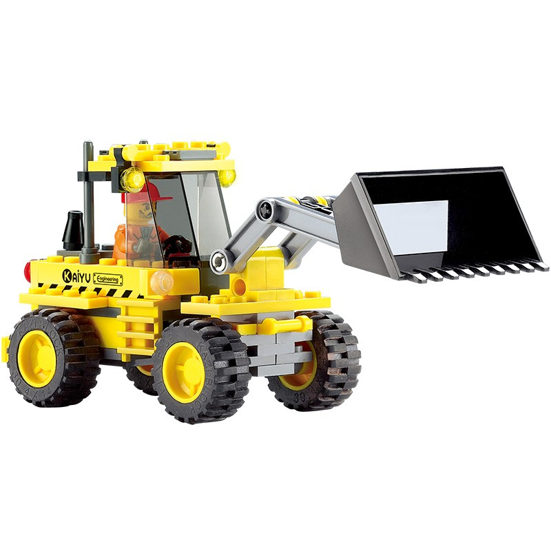 8042 KAZI City Construction Bulldozer Model Building Blocks Classic Enlighten DIY Figure Toys For Children Compatible Legoe 10639 bela city explorers volcano crawler model building blocks classic enlighten diy figure toys for children compatible legoe