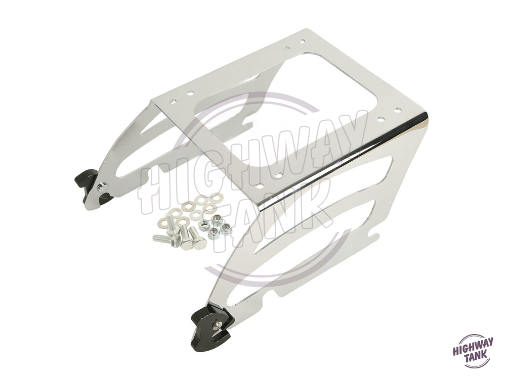 Chrome Motorcycle Solo Tour Pak Mounting Traveling Pack Moto Luggage Rack case for Harley Softail Deluxe Fat Boy FLSTC FLSTN partol black car roof rack cross bars roof luggage carrier cargo boxes bike rack 45kg 100lbs for honda pilot 2013 2014 2015