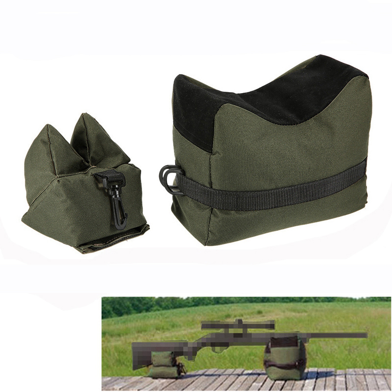 Front & Rear Support Bag Rifle Sandbag Set Portable Sniper Hunting Target Tactical Bench Stand Shooting Hunting Accessories