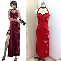 Resident Evil Costumes Resident Evil 5 Ada Wong Cheongsam Cosplay Costume