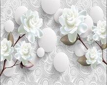 3D photo murals three-dimensional minimalist flower background