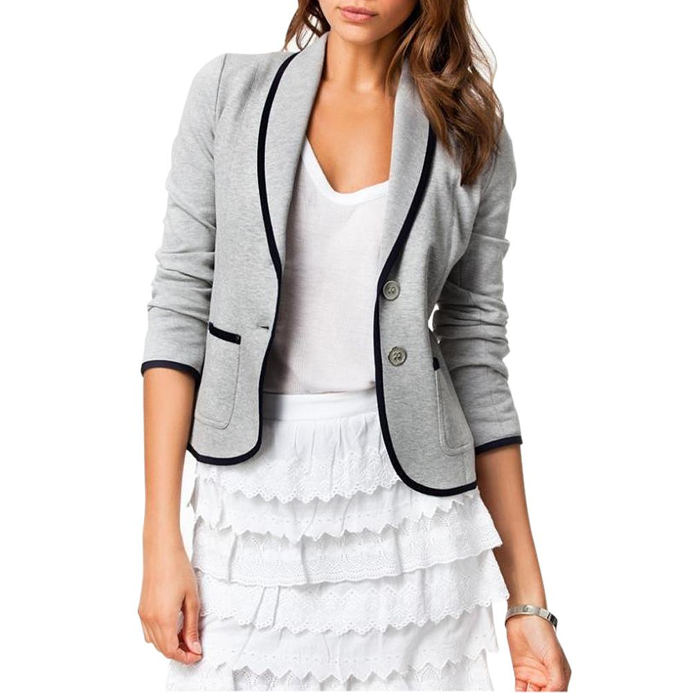 MYTL Autumn Woman Gray Short Turn Down Collar Design Slim Coat Jacket Suits in Blazers from Women 39 s Clothing