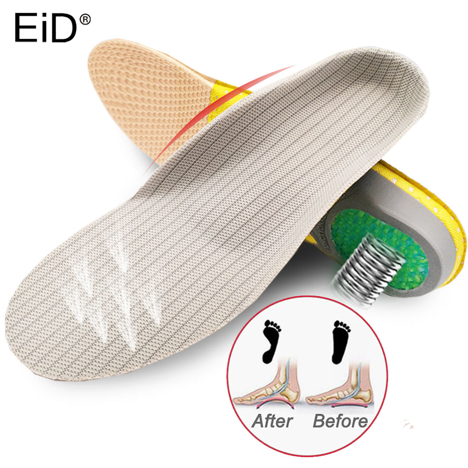 EiD Orthotic Insoles Arch Support Insole Athletic Comfort Insoles With Extra Shock Absorption Pads Daily Wear Work Shoes Inserts