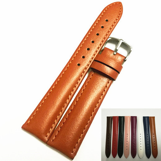 1 PZ cuoio genuino della mucca (cuoio spaccato) (seconda pelle) 12mm 14mm 16mm 18mm 20mm 22mm watch band watch strap 8 colori disponibili