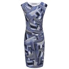 Women  Fashion  Summer printed Knitting dress Knee length Side gathering details Free Shipping fashion details 4000 drawings