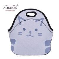 Aosbos Women Neoprene Insulated Lunch Bags For Women Men Kids Waterproof Cartoon Thermal Lunch Bag Box