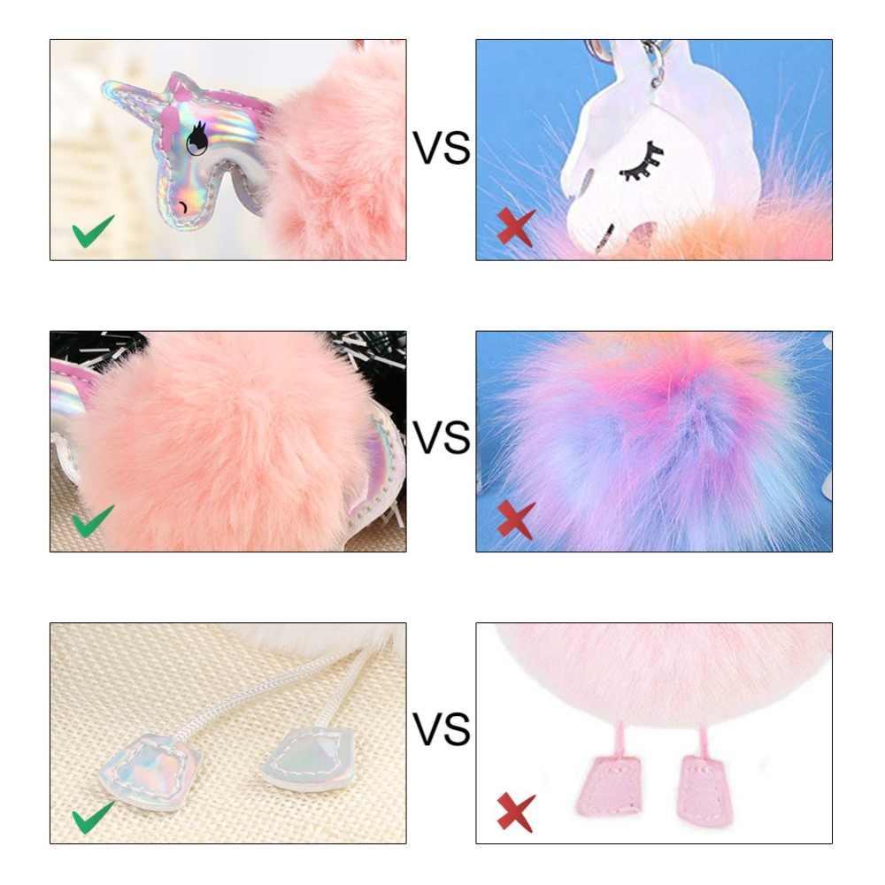 845d7888066 ... Aytai Christmas Unicorns Ornaments Party DIY Supplies Faux Rabbit Fur  Ball Pom Pom Horse Cute Christmas