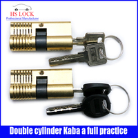 hot sale Double cylinder Kaba a full practice locksmith tools with 4 keys black & silver keys