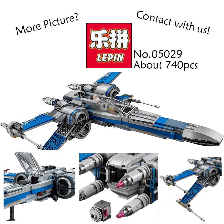 New LEPIN 05029 Star Wars First Order Poe's X-wing Fighter building blocks X wing Star wars Toys For Children compatible 75149 hot sale building blocks assembled star first wars order poe s x toys wing fighter compatible lepins educational toys diy gift