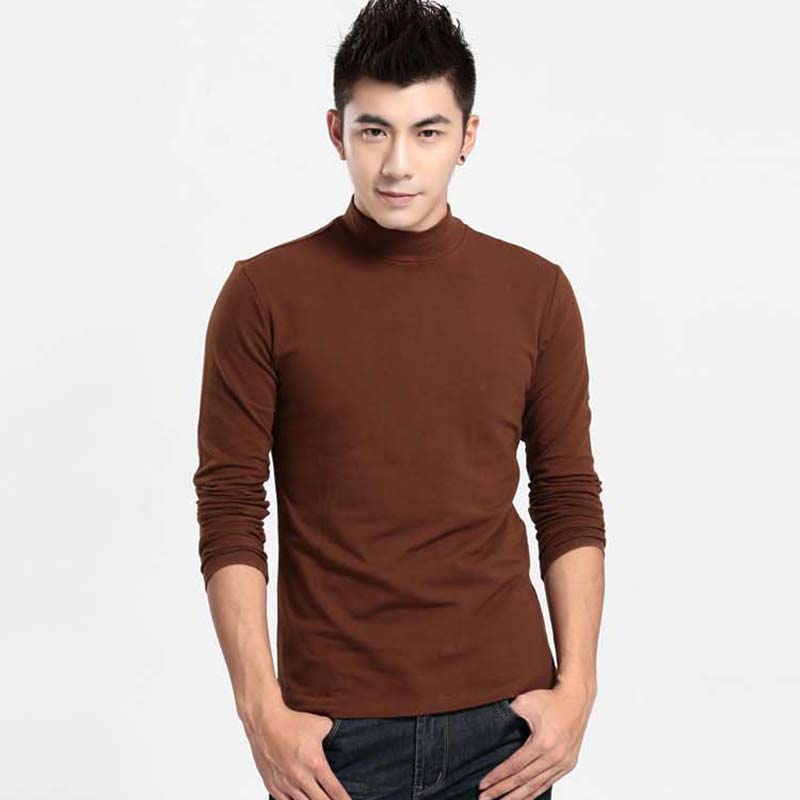 New Arrivals Men's Long-sleeved Sweater 2018 Men's High-necked Men Young Winter Spring Thickening Primer Sweater Slim Clothes