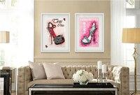 抽象キャンバス絵画壁画プリント ポスター現代装飾画像靴ハイヒール組成ホーム アート装飾画