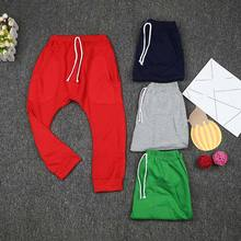 цена на 1pc Boys Girls Harem Pants Middle-waisted Elastic Sweatpants Pockets 3-8years 998