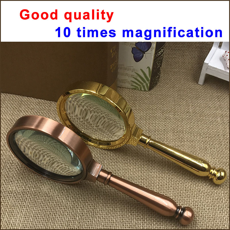 Handheld magnifying glass 80MM 10 times magnification for older people reading|magnifer|magnifing glass|  - title=