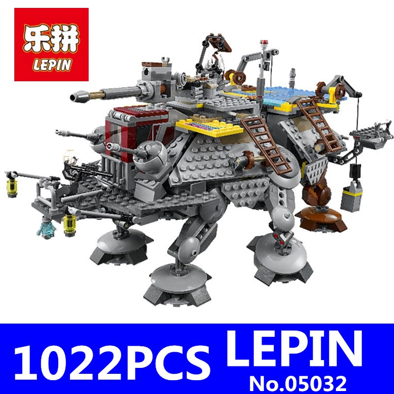 LEPIN 05032 1022Pcs Star Set Wars Captain Rex's AT-TE Building Blocks Bricks Model Educational Toy for Children Compatible 75157 lepin 05032 star wars rex s at te model building kits compatible with lego city 3d blocks educational toys hobbies for children