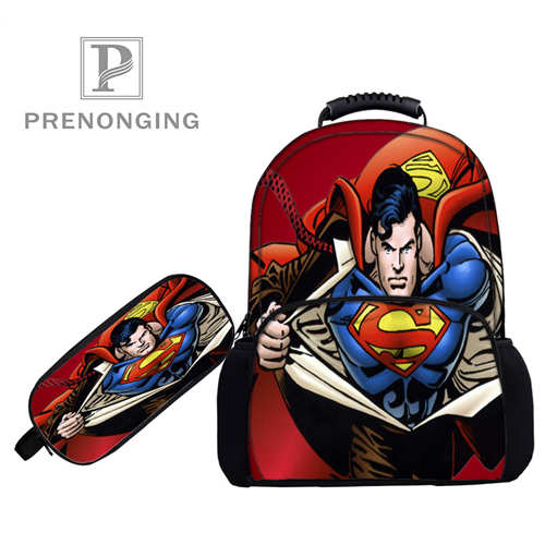 _ Backpacks Pen Bags 3d Printing School Women Men Travel Bags Boys Girls Book Computers Bag#1031-3-13 Special Summer Sale 1 Sensible Custom 17inch Superman