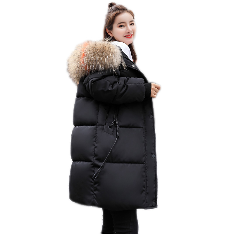 Plus Size Women's   Parkas   2019 New Winter Women Fur Coat Ribbons female Jacket Warm winter cotton coat women fur hoodies T21