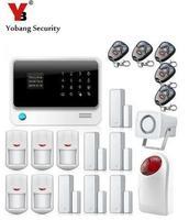 Yobangsecurity IOS приложение для Android Сенсорный экран g90b WI FI Беспроводной GSM сигнализация Системы безопасности дома с сиреной двери ПИР тревоги Сен