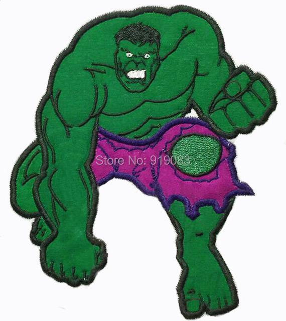 6 hulk esmagar isso grande feltro remendo traje dos desenhos